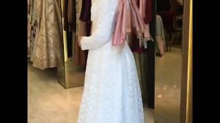 Pınar Şems Yezra Elbise - Ekru - www.modavitrini.com