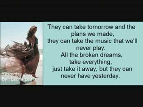 Leona Lewis - Yesterday (With lyrics!)