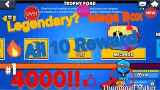Mega Box Opening Reaching 4000 Trophies: *New* Brawl Stars: FreeToPlay