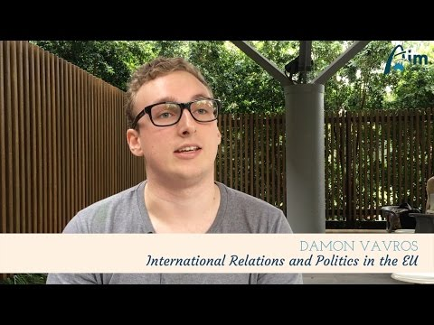 Hello Damon - International Relations and Politic in the EU | AIM Overseas