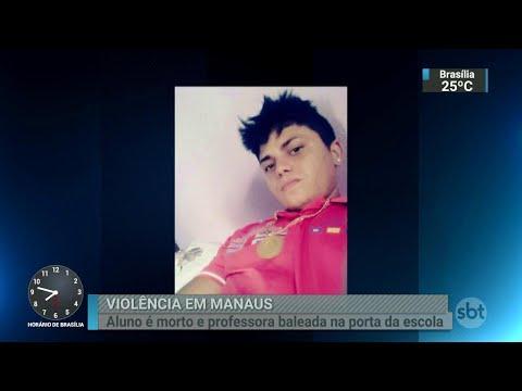 Em Manaus, estudante morre após ser baleado na porta da escola | SBT Brasil (25/08/18)