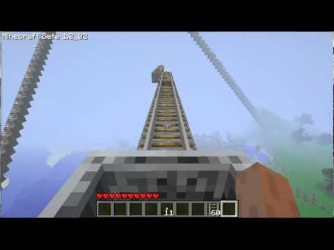Cool Things to Build in Minecraft- ROLLERCOASTER