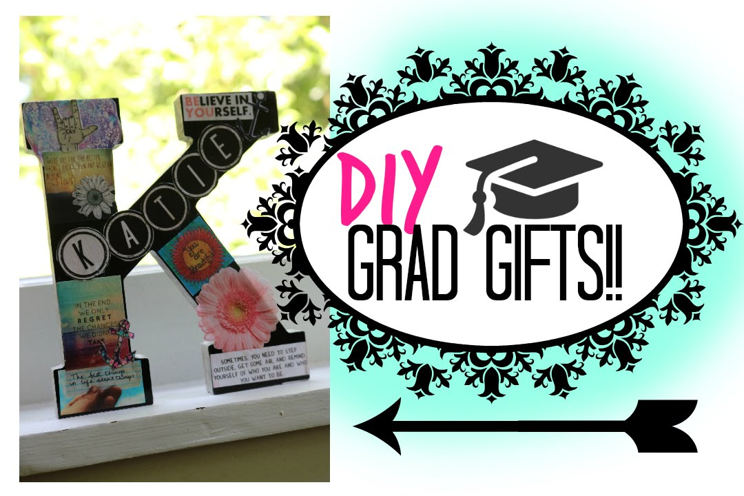 Diy grad gifts affordable easy cute youtube negle Gallery