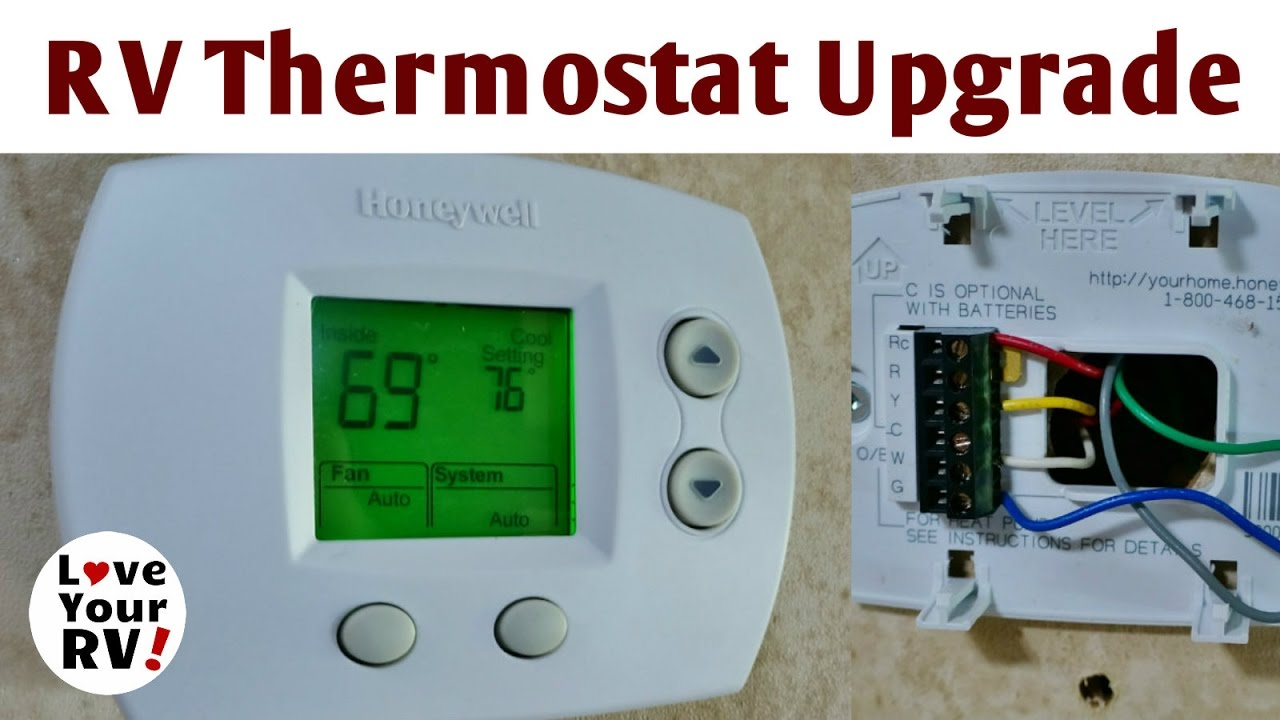 rv thermostat upgrade mod - honeywell focuspro 5000 - youtube keystone rv thermostat wiring diagrams duo therm rv thermostat wiring diagram