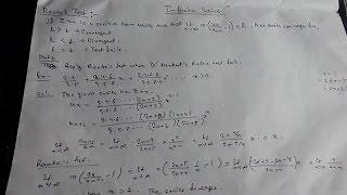 Infinite Series- 12 Raabe's Test