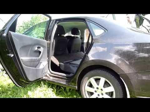 Спальное место в Фольксваген Поло седан. a place to sleep in a Volkswagen Polo Vento