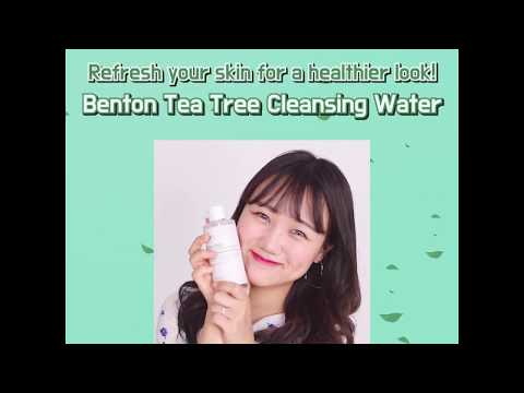 Easy & convenient cleansing starts from today! (Benton Tea Tree Cleansing Water)