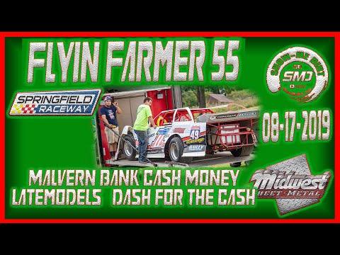 S03 E402 Dash for the Cash Flyin Farmer 55 Springfield Raceway 08 17 2019  Dirt Track Racing