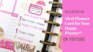 Meal Planner - MEAL PLANNER CARD FOR YOUR HAPPY PLANNER®