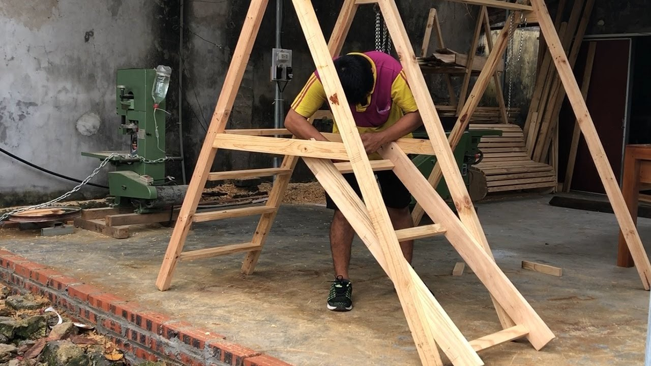 Best Creative Woodworking Designs_Free DIY Swing set Plans for a Happy Playing Area in Your Backyard