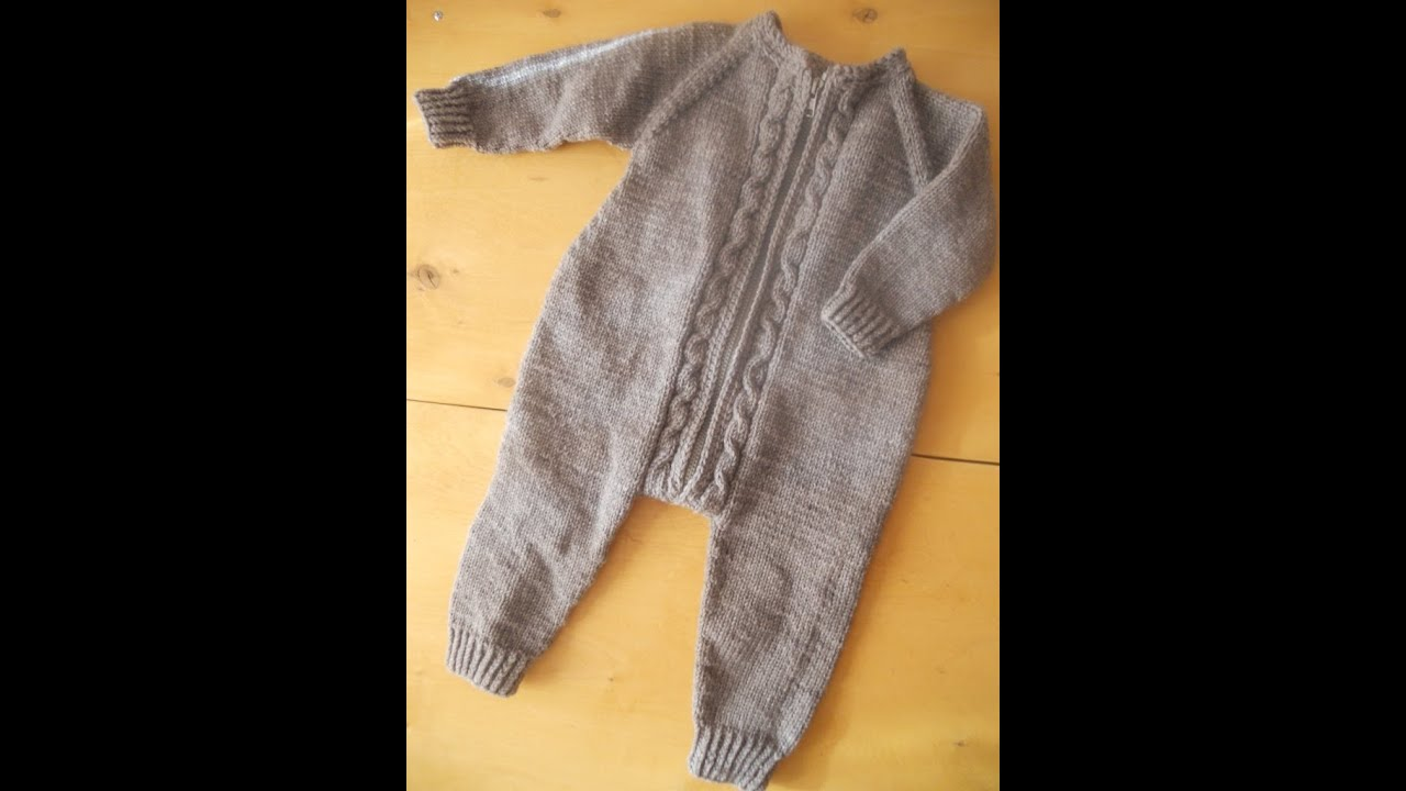 схема вязания детского комбинезона спицами реглан