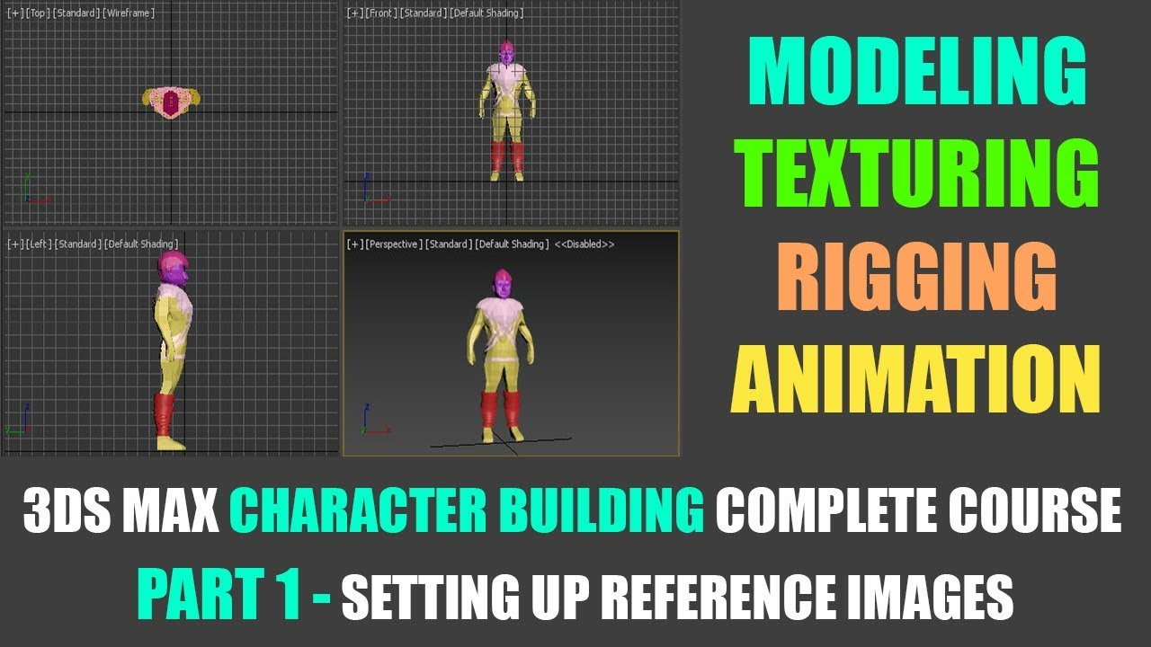 part 01 - Setting up reference images in 3dsmax | Character modeling course 3dsmax