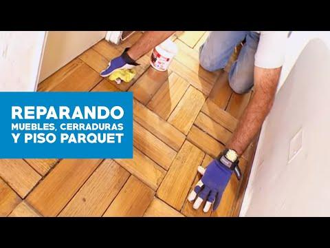 C mo reparar los muebles de cocina cerraduras y piso de - Como reparar piso de parquet rayado ...