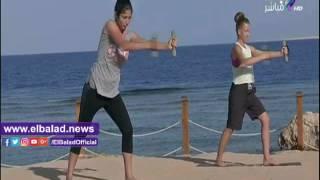 بعض تدريبات اللياقة البدنية على «صباح البلد».. فيديو