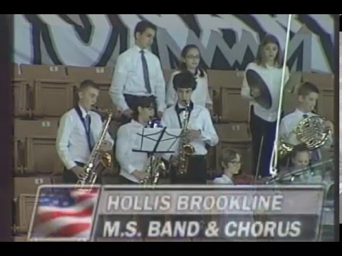 Hollis Brookline Middle School Band and Chorus - U.S. National Anthem - November 21, 2015