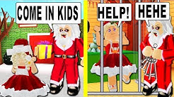 This Creepy Santa Tricks Kids Into His House In Bloxburg. (Roblox)