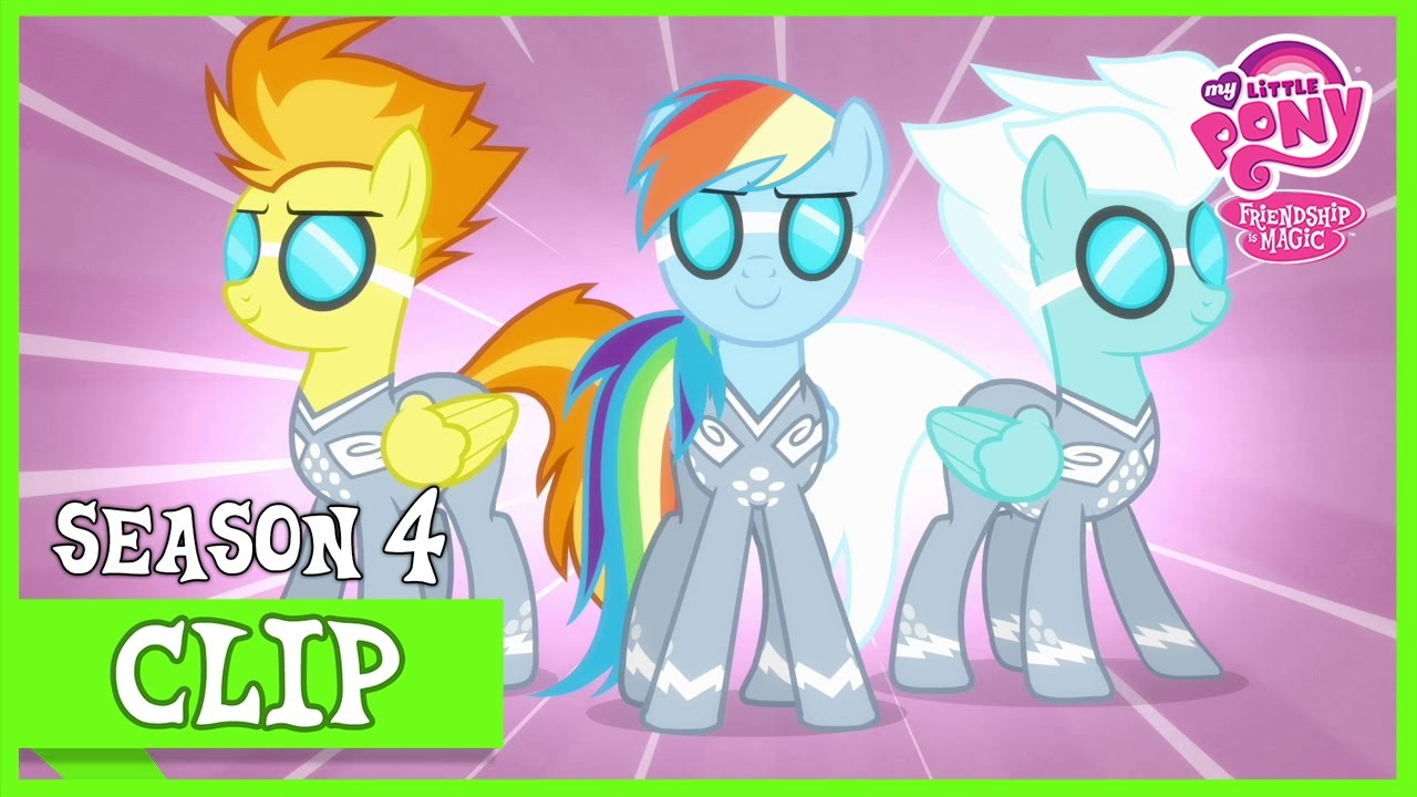 between the ponyville and cloudsdale team rainbow falls mlp fim