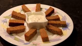 Рецепт ЧЕСНОЧНЫЕ ГРЕНКИ с соусом