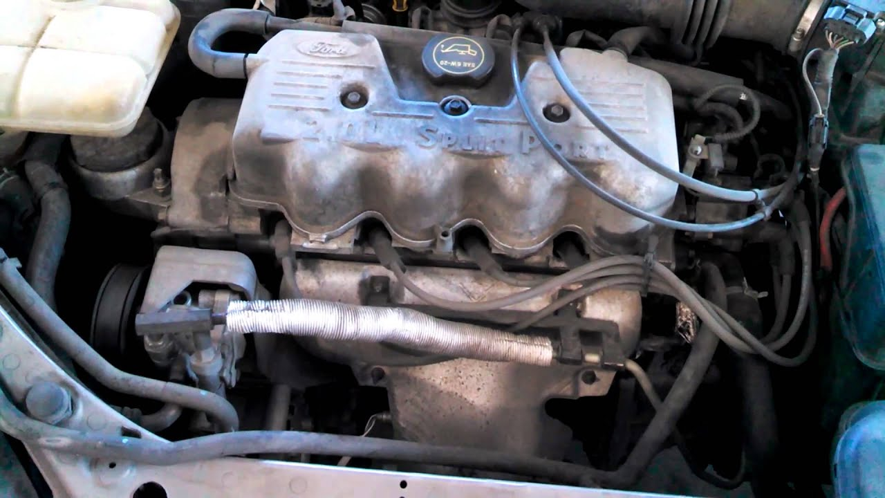 Engine Ticking Noise Ford Escort  L Loose Spark Plug