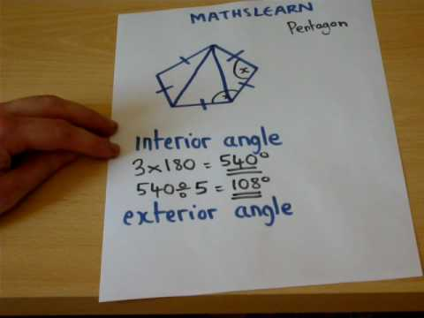 The Trick To Finding Interior And Exterior Angles Easily Gcse Maths Revision Video Youtube