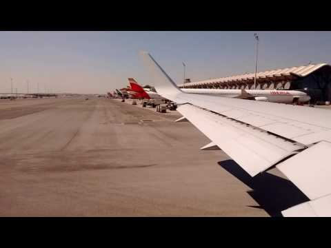 American Airlines 767-300ER: Taxiing and Taking off at Adolfo Suarez Madrid-Barajas Airport (MAD)