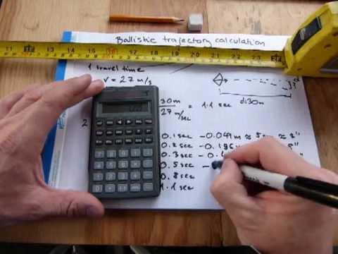 Ballistic trajectory calculation