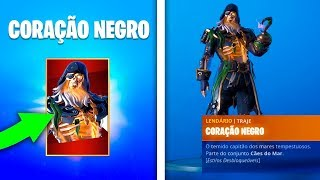 How to pick up for free the maximum level of the New Black Heart Skin at Fortnite Season 8..!