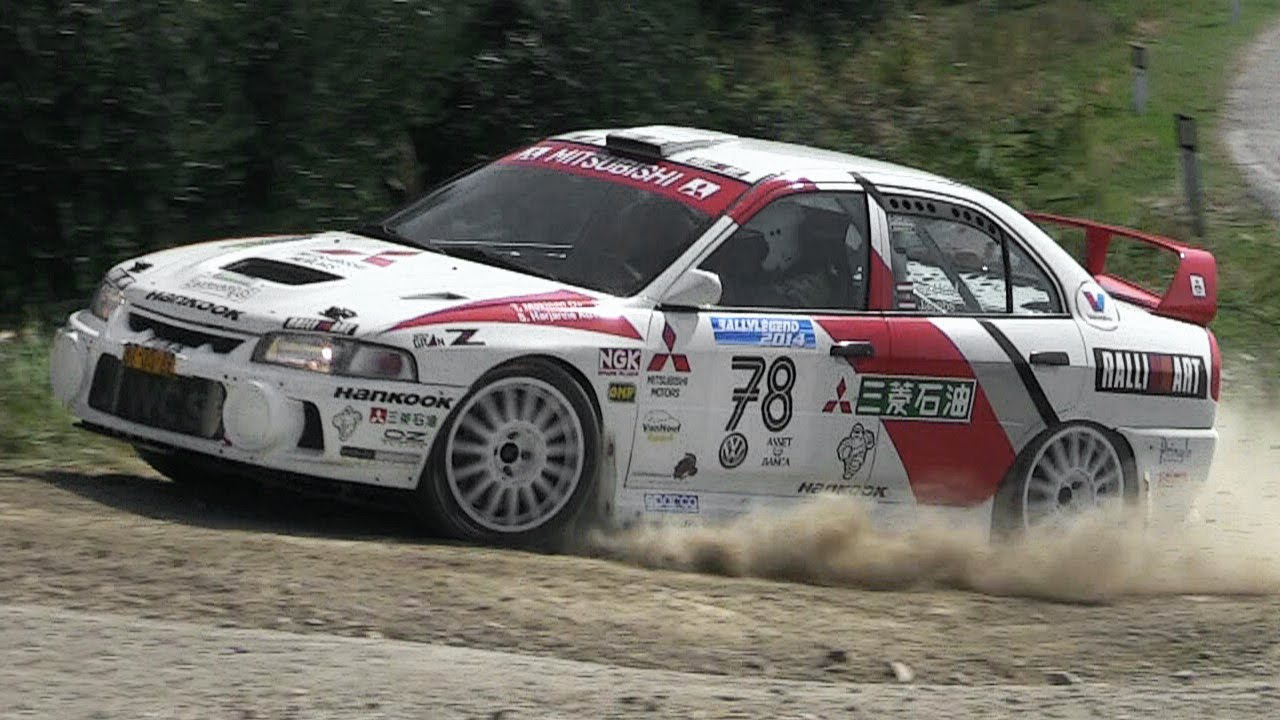 Mitsubishi Lancer Evo IV Rally Group A - Starts, Anti-Lag ...