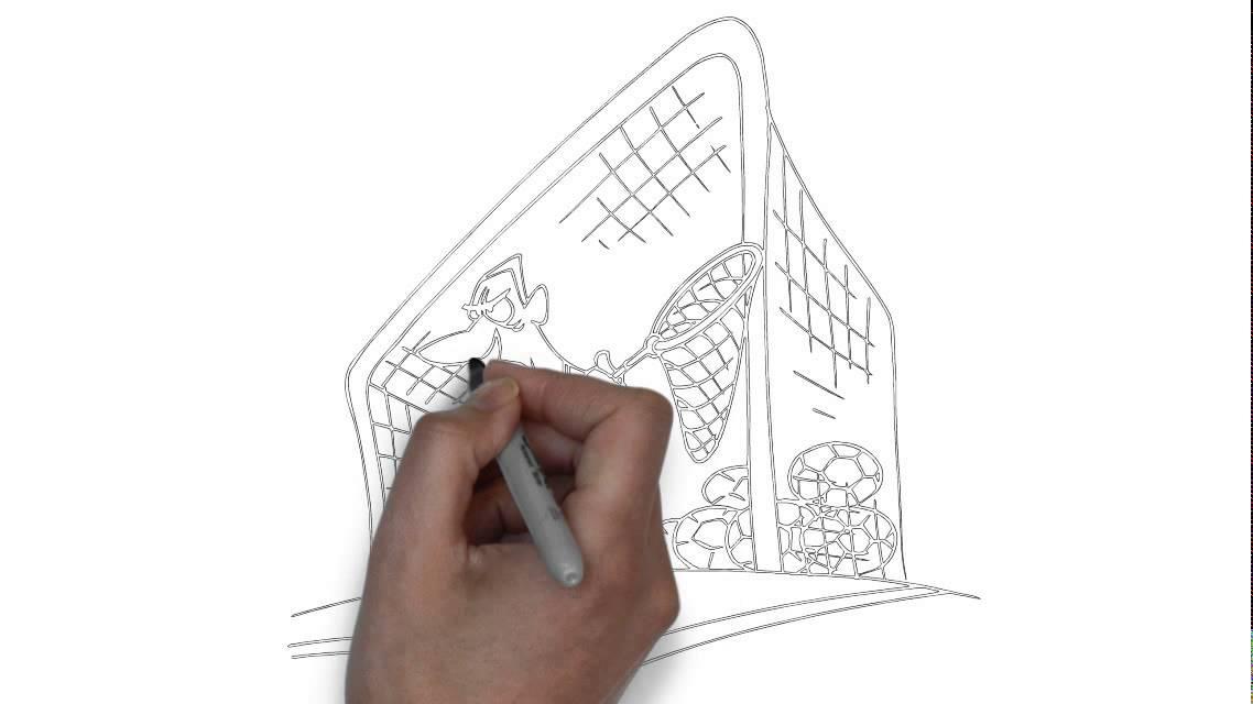 Comment dessiner un gardien de but youtube - Comment dessiner un but de foot ...