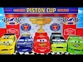 DISNEY PIXAR CARS PISTON CUP RACERS SERIES RACE TRANSFORMING LIGHTNING MCQUEEN RACETRACK