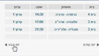 לוח שידורים מונדיאל 2010- בתים