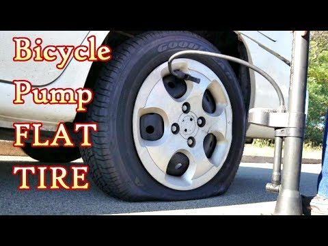I always use a Bike Pump to pump up Flat Car Tire