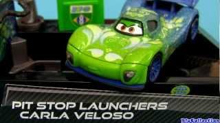Pit Stop Launchers Carla Veloso Diecast Cars 2 Disney ToysRus Propulseur Arrêt Au Stand