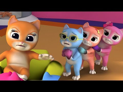 Tiga Anak Kucing Kecil | Anak Kucing Berima | Sajak Bayi | Three Little Kittens | Preschool Rhymes