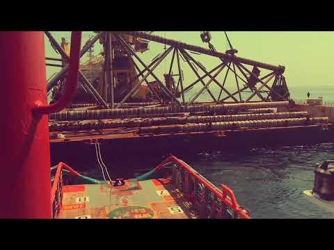 Hard work offshore yadana field