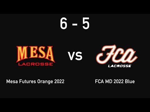 Mesa Lacrosse - Boys Summer Slam 2017 (Game 3) - Vs FCA MD 2022 Blue - 6-5