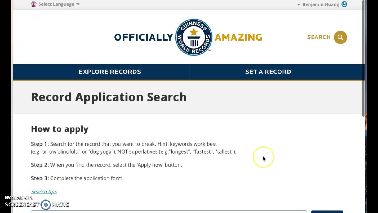 How to Apply for a Guinness World Record forecasting