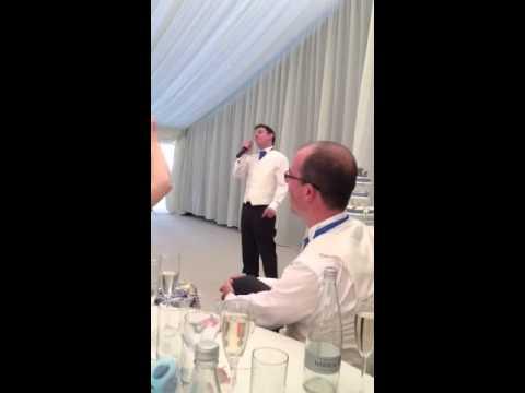 Lordy Best Man Newby Hall Geoff & Soph's Wedding 2013