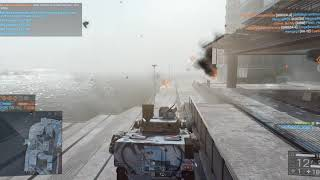 Battlefield 4: Launching a LAV from objective E to objective A on Siege of Shanghai