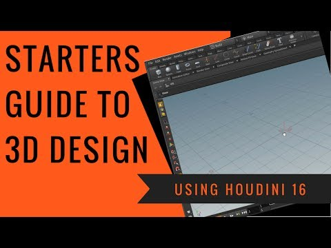 Beginners guide to Learn 3D in Houdini 16 - SideFX 3D Video Tutorial: Procedural Interface and nodes