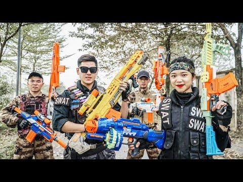 LTT Nerf War : SEAL X Warriors Nerf Guns Fight Criminal Group Dr.Lee Crazy New Weapon Thief