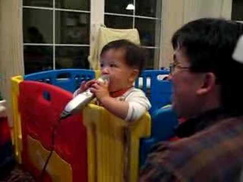 Zachary's first Karaoke