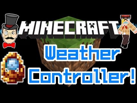Minecraft WEATHER CONTROLLER Mod! Call Down Lightning, Sun, Rain Or Storm!