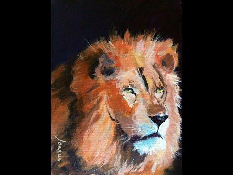 Malen mit Acryl: Löwenkopf (Teil 1/2)