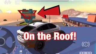 Getting on the ROOF of MOTEL! (Easy) | Car Parking Multiplayer
