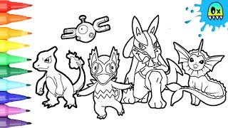 Pokemon Coloring Pages Charmeleon and friends coloring book fun