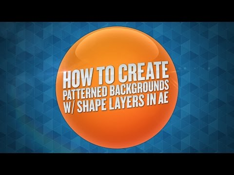 How To Create Patterned Backgrounds With Shape Layers in After Effects