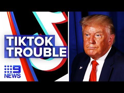 TikTok users backlash over Trump announcing ban   9 News Australia