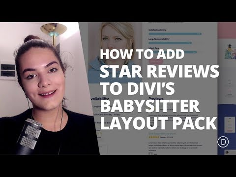 How to Add Star Reviews to Profile Pages with Divi's Babysitter Layout Pack