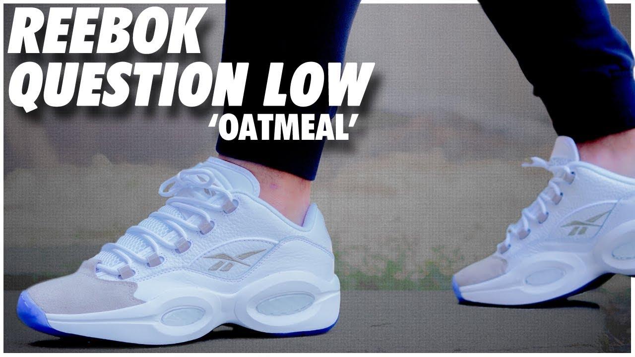 Reebok Question Low Oatmeal - YouTube